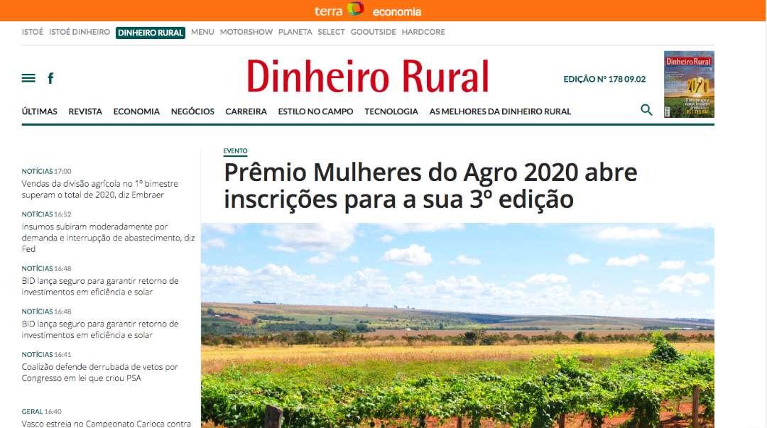 Prêmio Mulheres do Agro 2020 abre inscrições para a sua 3º edição – Terra