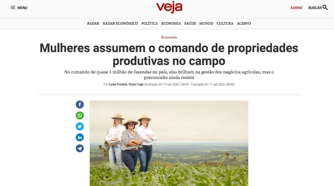 Mulheres assumem o comando de propriedades produtivas no campo - Veja